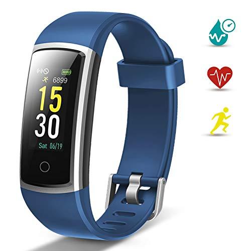 Lintelek Fitness Armband Schrittzähler Fitness Tracker mit Pulsmesser Blutdruckmessung Schlafmonitor Smartwatch Anruf SMS Warnen Sportuhr Wasserdicht IP68 für Herren Damen