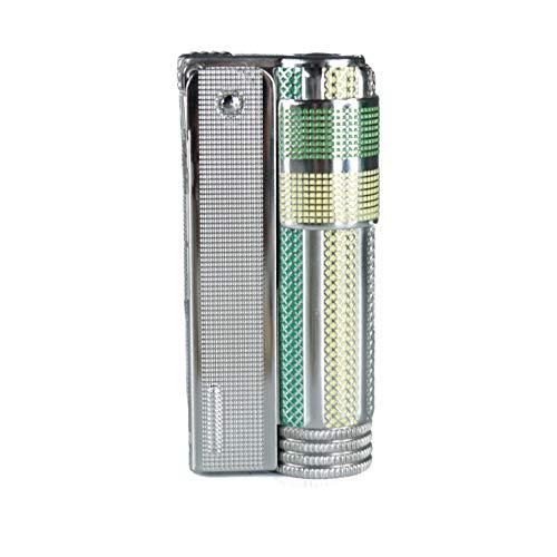Oldtimer IMCO Feuerzeug Triplex Super 6700 Made in Austria grün gelb neu alter Stock