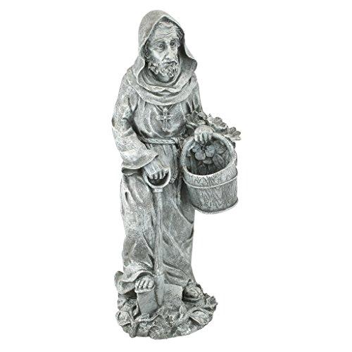 Design Toscano St. Fiacre, Schutzpatron der Gärtner, Heiligenfigur