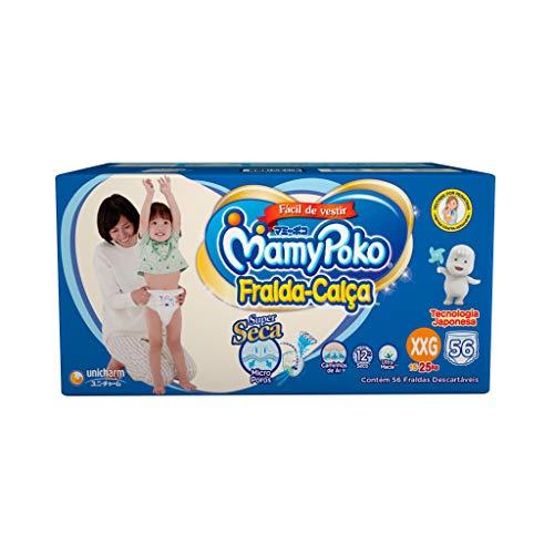 Fralda-Calça MamyPoko Tamanho XXG, 56 unidades