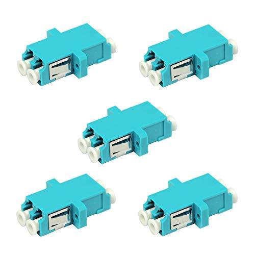 LC Fiber Optic Adapter - LC to LC Duplex Multimode OM3 OM4 OM5 Coupler...