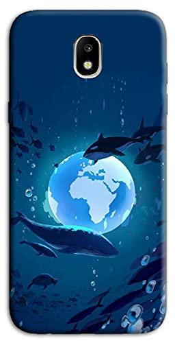 Mixroom - Cover Custodia Back Case in TPU Silicone Morbida per Samsung Galaxy J3 2017 Fantasia Mondo Sottomarino N1108