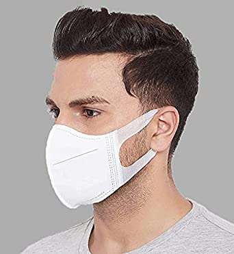 True Indian JO Disposable Mask ROMSONS Comfit 3D 4 Layers Face Mask with 2 Melt-Blown Filter & Softest Ear Loops (Pack of 25, Without Valve) for Unisex