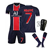 Weqenqing 2021 New Paris Rugby Jersey, Rugby Club, Rugby Jersey, Adult and Children Rugby Jersey, Rugby Short Sleeve (Color : ABlue, Size : 18)