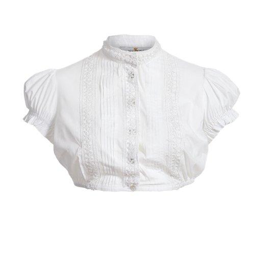 Dirndlbluse Sissi in Weiß von Almsach, Größe:46, Farbe:Weiß
