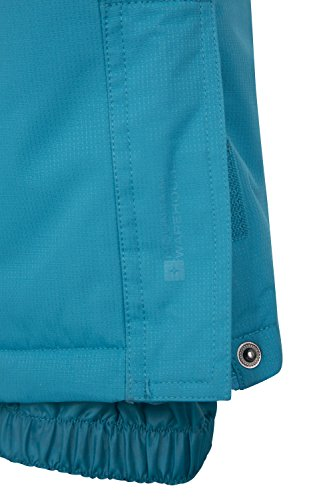Mountain Warehouse Honey Kids Snow Pants - Snowproof Childrens Trousers, Snow Gaiters - For Winter Sports, Skiing Holidays, Snowboarding Teal 5-6 Years