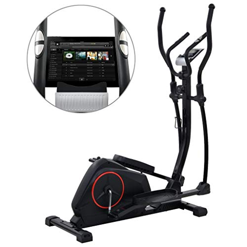 Tidyard Magnetic Elliptical Trainer Cross-Trainer with Pulse Measurement Adjustable Resistance with LCD display Fitness Equipment