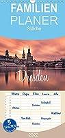 Barockstadt Dresden - Familienplaner hoch (Wandkalender 2022 , 21 cm x 45 cm, hoch): Dresden - Die Barockstadt an der Elbe (Monatskalender, 14 Seiten )