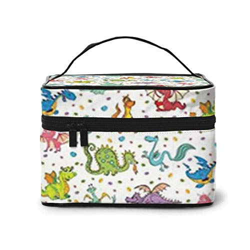 Dragons Travel Cosmetic Case Organizer Portable Artist Storage Bag, Multifunction Case Toiletry Bags for Women