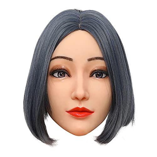 LYWIR Female Head Mask Handmade Soft Silicone Head Mask Für Crossdress Transgender Halloween
