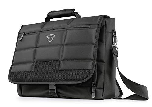 Trust GXT 1270 Laptop Tasche (für 16 Zoll Laptops, Notebook Tasche, 4 zusätzliche Fächer, 40 cm x 30 cm, Abnehmbarer und verstellbarer Schultergurt) schwarz