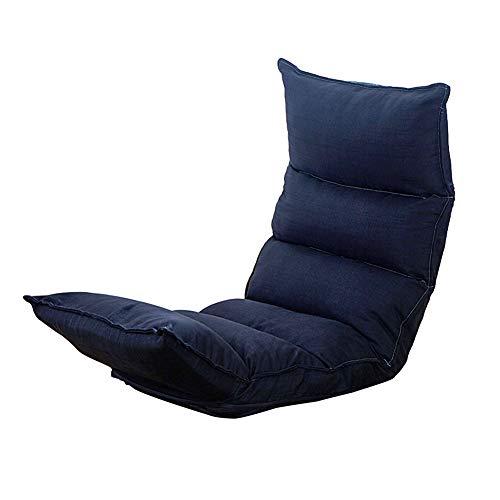 Feifei Chaise de Plancher Chaise de Jeu Pliable Chaise de Plancher réglable Fauteuil Paresseux canapé Balcon (Couleur : Noir)