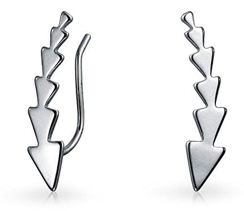 Minimalistische Pfeil Dreiecke Ohr Pin Warp Climber Ohrringe Für Damen Ohr Climber 925 Sterling Silber