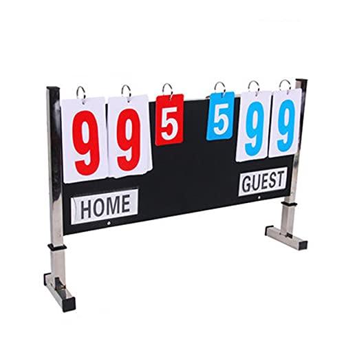 BaoYPP Deportivo Marcador Tablero de marcadores de Baloncesto Puntuación de puntaje Puntuación de Puntuación de Puntuajes de Puntuación de Puntuación Gran Aplicación (Color : 1, Size : 60x38cm)