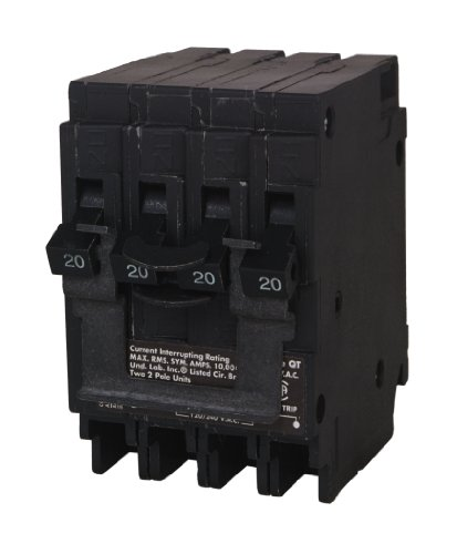 SIEMENS Q22020CT2 Two 20-Amp Double Pole Circuit Breaker, As shown in the image