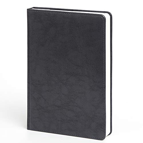 Leather Notebook Blank Journal Writing Paper 320 Pages, Marble Hardcover A5 6.1x 8.8 Inches (Grey)