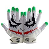 Eternity Gears Joker Football Gloves Tacky Grip Skin Tight Adult Football Gloves Enhanced Performance Football Gloves Men Pro Elite Super Sticky Receiver Football Gloves Adult Sizes (Large)