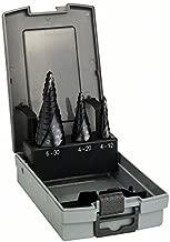 Bosch 2 608 588 069 - Set de 3 brocas escalonadas HSS-AlTiN - 4-12; 4-20; 6-30 mm (pack de 1)