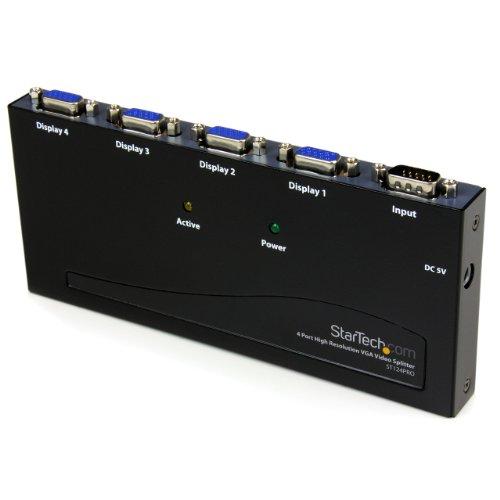 StarTech.com 4-Port VGA Video Splitter - 300 MHz- VGA Splitter - 4 port - 2048x1536 @ 80Hz (ST124PRO)