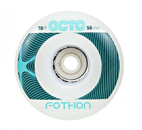 chaya Octo Wheels, Fothon LED, 78A, 4er Rollschuhe Zubehör, weiß, 58mm