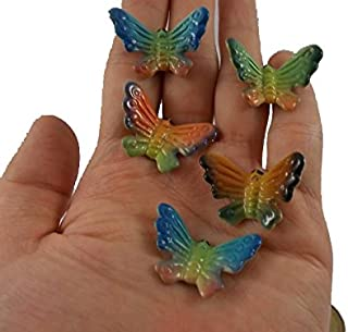 5 pc Butterflies Ceramic Butterfly Figurines Miniature Butterfly Decorate Home Animals