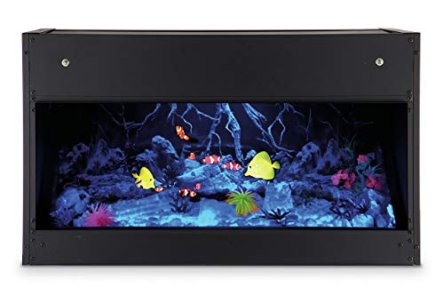 EWT Opti-v Aquarium Garten integriertem Fireplace Electric Black – Fireplaces (760 mm, 350 mm, 450 mm, 26 kg, 850 mm, 450 mm)