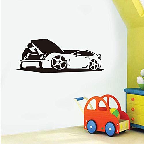 Etiqueta de la pared Reparación de Coche Pegatinas de Pared Diy Motor Mecánico Wallpaper Extraíble Vinilo Adesivo De Parede Para Taller de Reparación de Decoración para el hogar