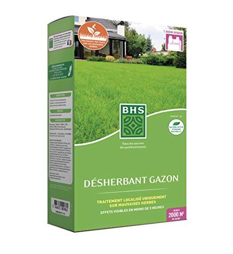 BHS DG900 Desherbant Gazon | 900 ML | Soit 2000 m² | Formulation concentrée Action Express, Fabriqué en France