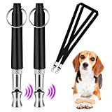 ICOUVA Dog Whistle [2 Pack], Professional Ultrasonic Dog Training Whistle With Lanyard Neck Strap Training Assistant for Recall and Barking Control