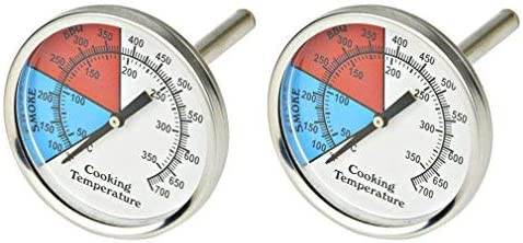 Onlyfire Professional Bbq Thermometer 2 Pack Charcoal Smoker Temperature Gauge 3 Gas Grill Thermometer Industrial Scientific