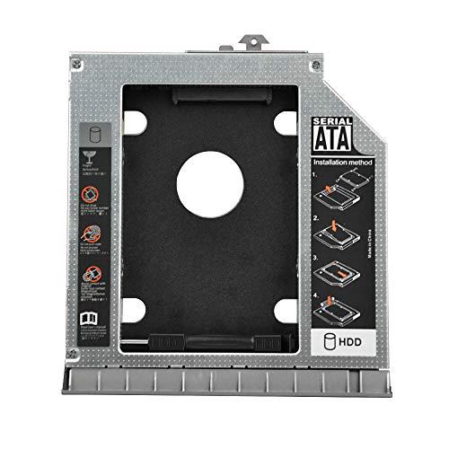 ehz-shop 2nd HDD SSD Caddy Frame hard disk da 12.7mm, 6,3cm SATA, custodia per HP ELITEBOOK 8460P, 8470P con abbinato frontale lunetta
