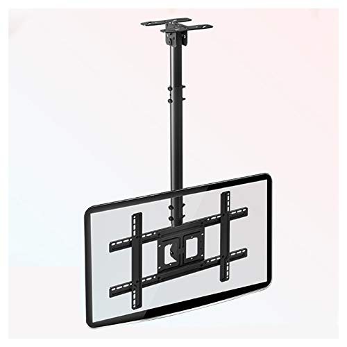 SHIJINHAO TV Ceiling Mount Bracket, Tilts Swivels Height Adjustable Fits Most 32-65'' LCD LED Plasma Monitor Screen Display Up To VESA 400x400 68kg Load Capacity (Color : Black, Size : 40x40x100mm)