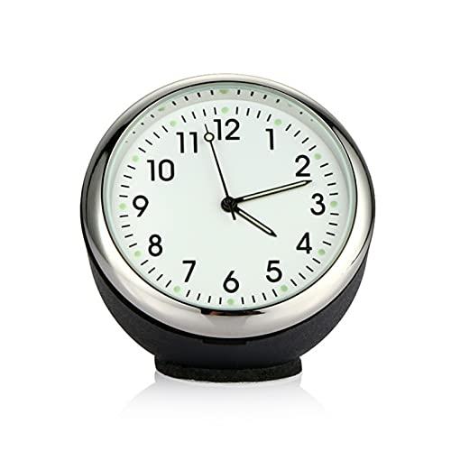 Adorno de Reloj de automóviles Automóviles Decoración Automóviles Interior Tablero de Instrumentos Tiempo Pantalla Digital Puntero Reloj Accesorios para automóviles (Color Name : White)