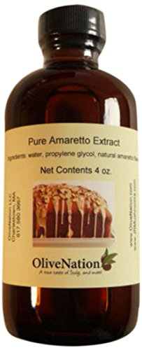 OliveNation Amaretto Flavor, Almond-Based Non-Alcoholic Flavoring, Water Soluble, Sugar Free, Gluten Free - 8 ounces