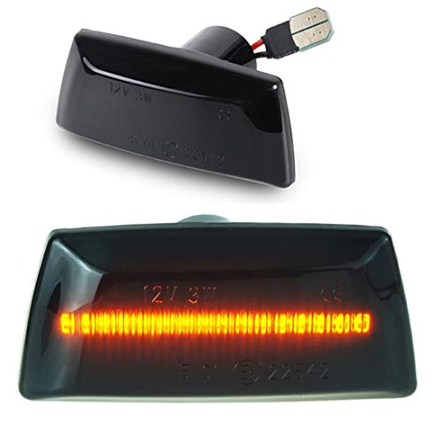 DoLED LED Seitenblinker Blinker getönt Schwarz/Rauchglas kompatibel für Adam Astra H J GTC Corsa D E