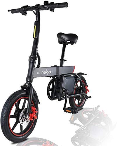 Windgoo Elektrofahrrad, 14' Elektroroller, Elektro Scooter mit 6.0 Ah Batterie, Höchstgeschwindigkeit...