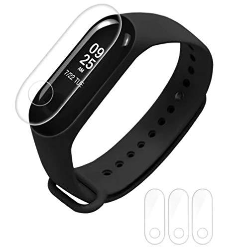 Película Protetora Ultra Fina para Smartwatch Xiaomi Mi Band 3 - Kit 3x películas