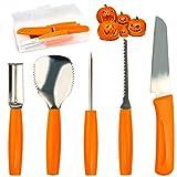 Pumpkin Carving Tools Set Halloween Pumpkin Carving kit Carving Knife Professional Stainless Steel...