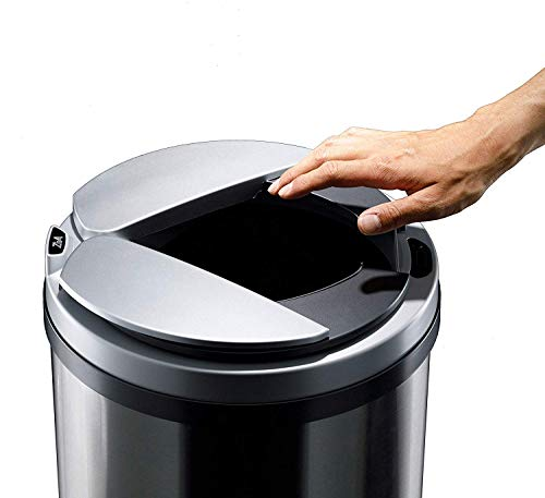 ZitA 'Can't go Back Before Using Trash Can Automatic Motion Sensor 13 Gallon Stainless Steel