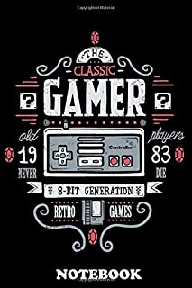 Notebook: Classic Gamer , Journal for Writing, College Ruled Size 6