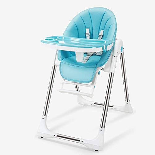 LIICC Hoge stoel voor kinderen, de stoel draagbare metalen kindertafel multifunctionele klaptafel baby eettafel en stoelen gerechten