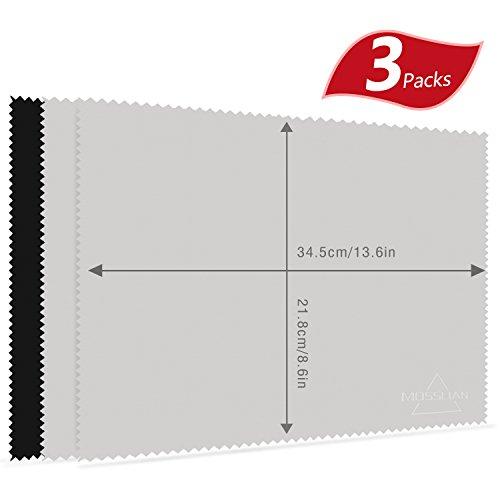MOSSLIAN キーボードカバークロス クリーナークロス 液晶画面用マイクロファイバークロス 34.5×21.8cm 3枚セット
