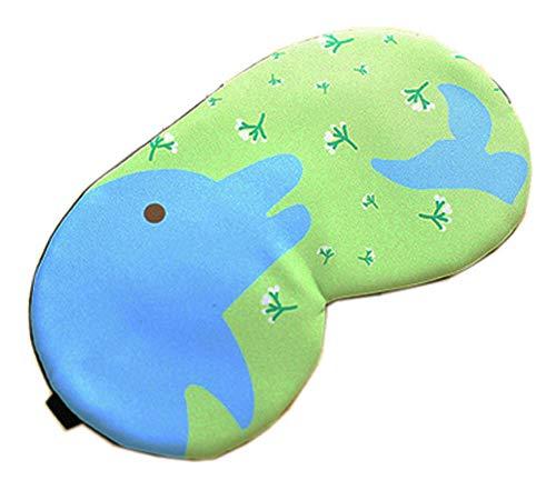 Schlafmaske Schlafenaugen-Abdeckung Super-Smooth Augenmaske für Reise, Grün