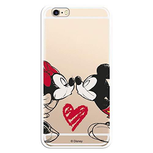 Custodia per iPhone 6 – 6S Ufficiale Disney Topolino e Minnie Beso per proteggere il tuo cellulare Cover per Apple in silicone flessibile con licenza ufficiale Disney.