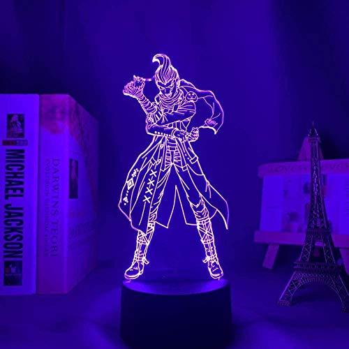 Lámpara de ilusión 3D luz de noche Dandanronpa en decoración interior Regalo Acrílico Gundham Tanaka es perfecto para niños