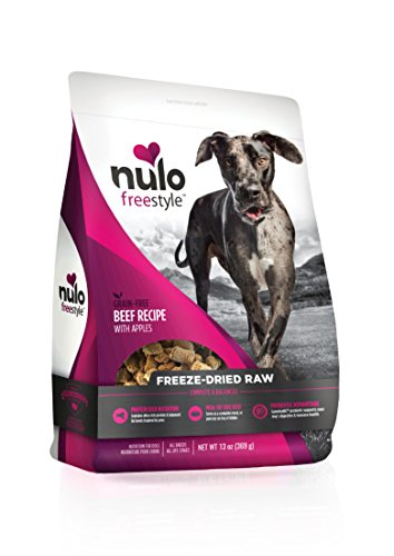 Nulo Freeze Dried Raw Dog Food For All Ages & Breeds: Natural Grain Free Formula With Ganedenbc30 Probiotics For Digestive & Immune Health - Beef Recipe With Apples - 13 Oz Bag