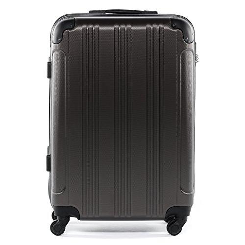 FERGÉ Trolley di dimensione media QUÉBEC - Valigia rigida valigia da 24' con 4 ruote (360) grigio