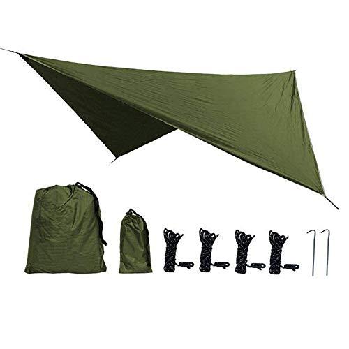 Toldo de hamaca, 1 pieza 210T Tejido de poliéster Rómbico al aire libre Impermeable A prueba de sol Estera de tierra para acampar Tienda Toldo de hamaca