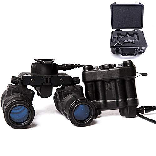 Chestnut-YX FMA Tactical Airsoft AN / PVS31 Helm Dummy Nachtsichtbrille Modell Keine Funktion Binokular Nachtsicht NVG mit Batteriefach und Aufbewahrungsbox