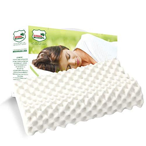 Latex Contour Pillow for Neck Pain,Cervical Pillow, Contour Memory Foam Pillow,Orthopedic Ergonomic Cervical Pillow,Latex Foam Pillow,Ergonomic Contour Design for Spine Support (Massage)